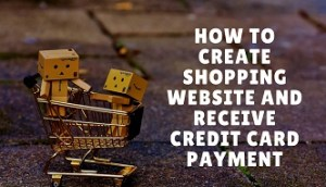 how to create shopping website and receive credit card payment