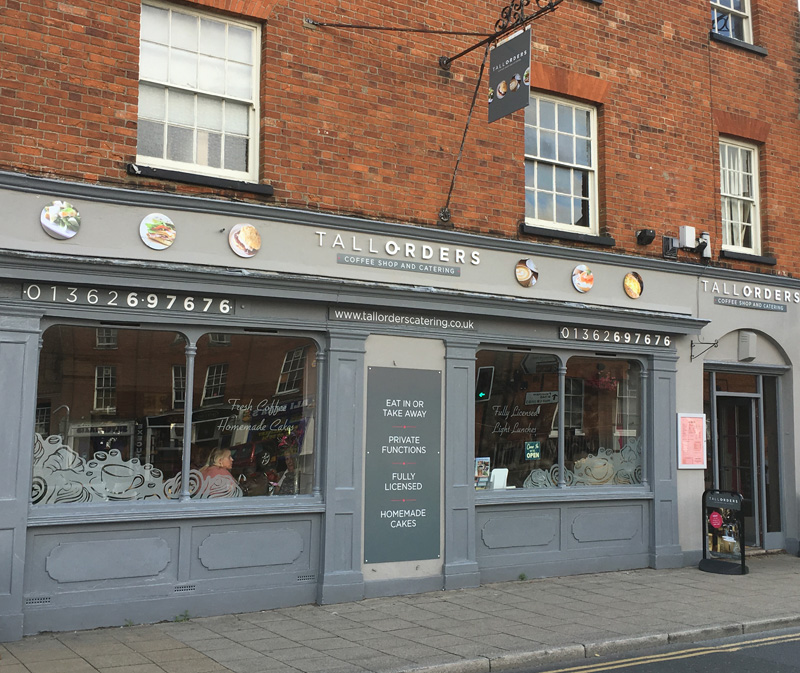 Tall Orders Coffee Shop  Catering branding  shopfront