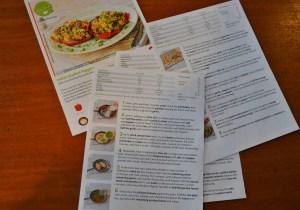 Instructions for preparing HelloFresh meals