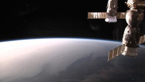 View to the northwest as ISS slides into night over Chile