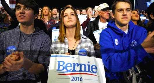 White people for Sanders