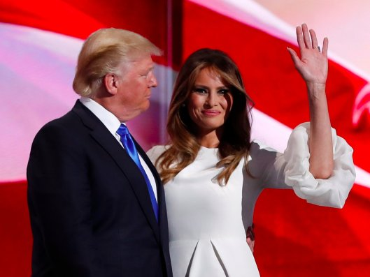 Donald is impressed by Melania rendition of Michelle Obama's speech