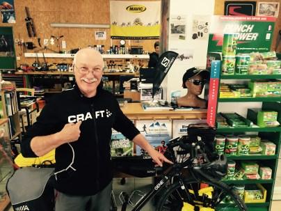 Proud work by bike mechanic