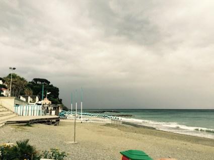 Storm rolling in towards Genova