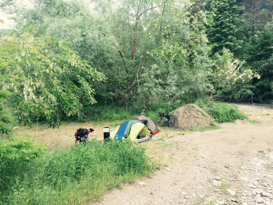 Camping near river