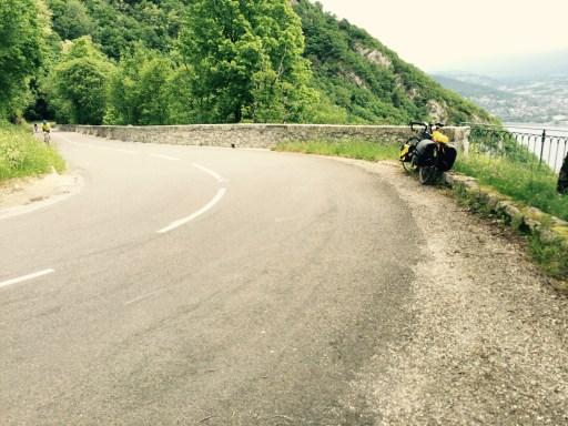 White mark where pedal grounded