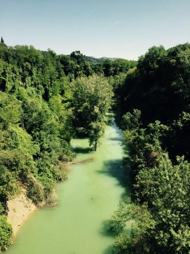 The Fiume Senio river, Italy
