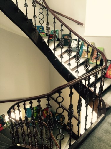 Canvases waiting to be hung, Hostel Vila Viktorija