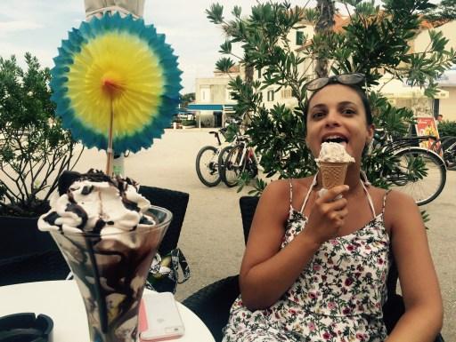 Anne with ice-cream, Hvar island