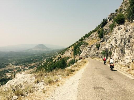 Riders descending towards the Albanian border, Montenegro