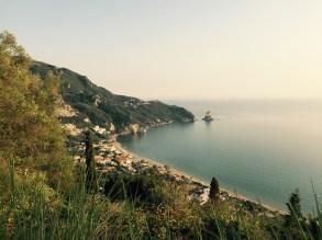 View ovevr Agios Gordios, Corfu