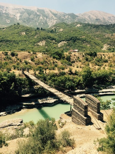 Old foot bridge, PÃ«rmet valley, Albania