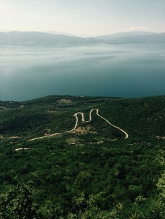 Lake Ohrid from the top of Galičica national park, Macedonia