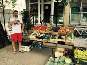 Lazar and his fruit stall, Negotino, Macedonia