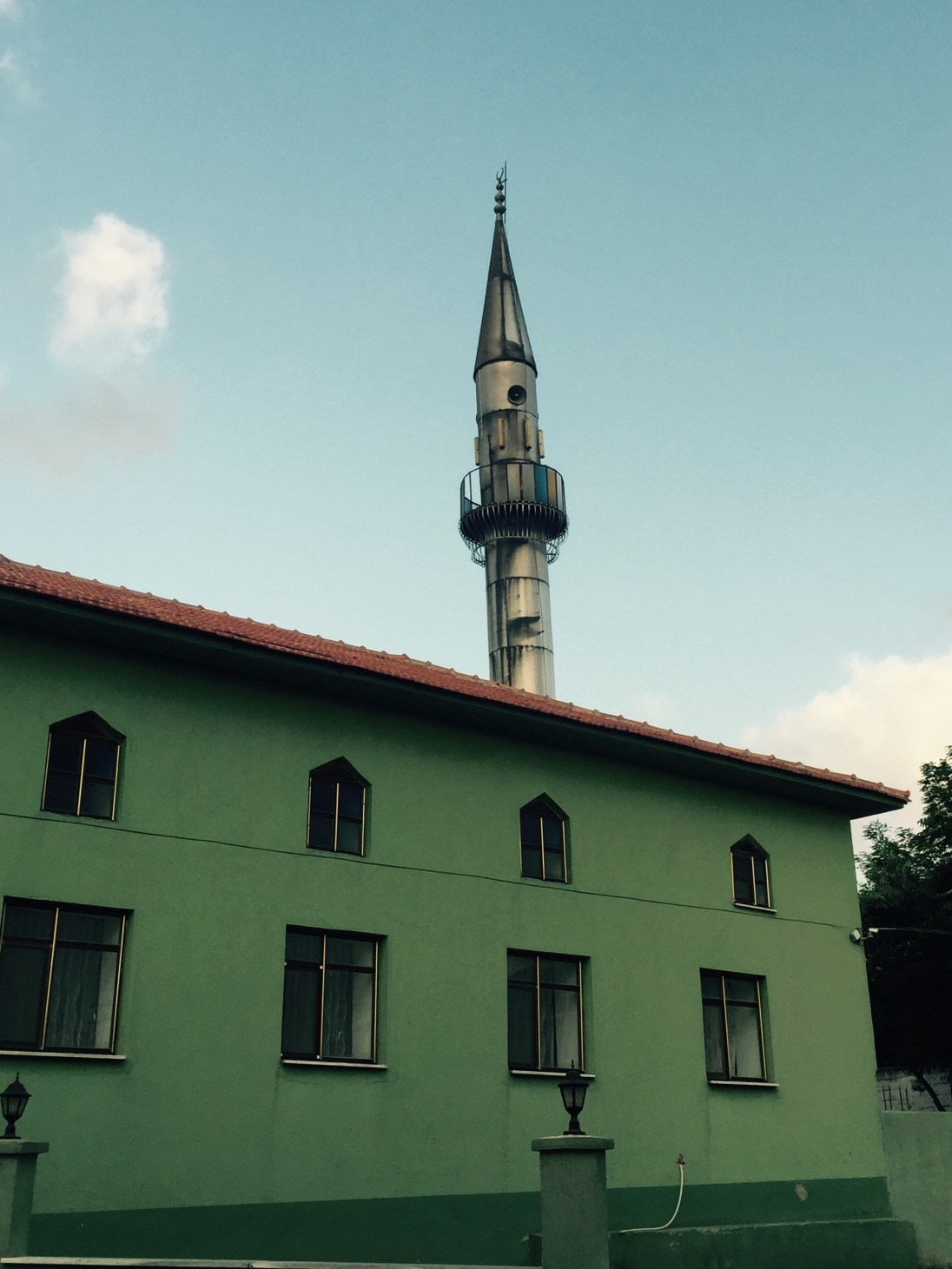 Metal minaret