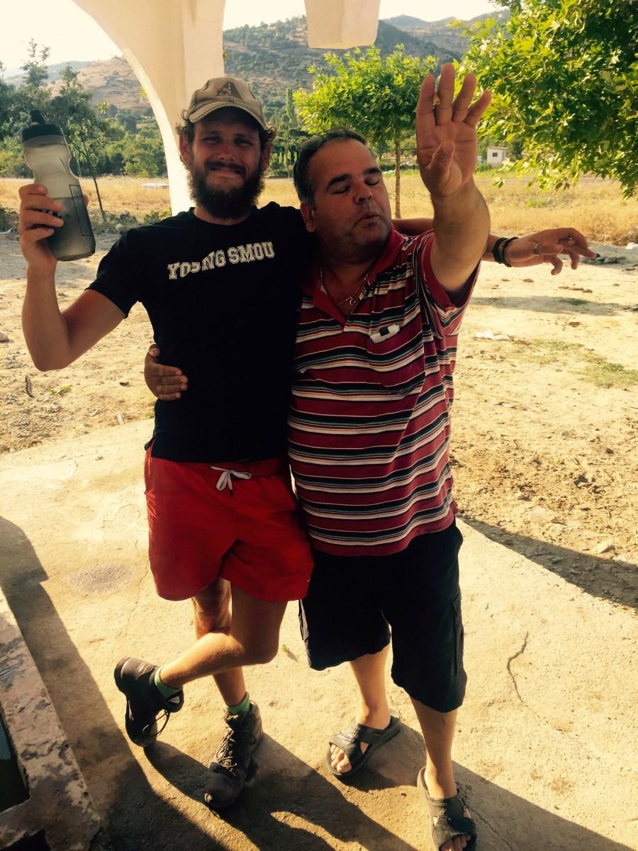 Hug at road stop, Turkey