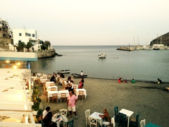 Beach bar, Astypalea harbour, Greece