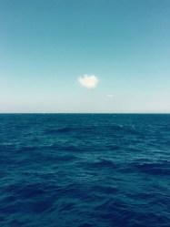 Loanley as a cloud at sea