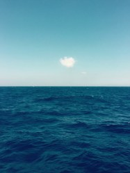 Loanley as a cloud at sea