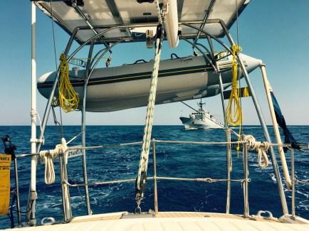 Italian Guardia patrol ship approaches