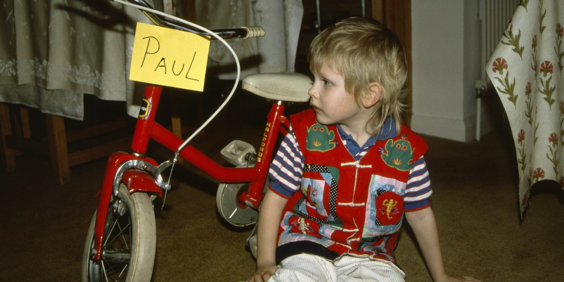 Paul Ferguson with his first bike, cheers for the mullet mum ;)