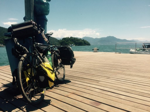 Cycling the BR-101, bike on Ilha Grange