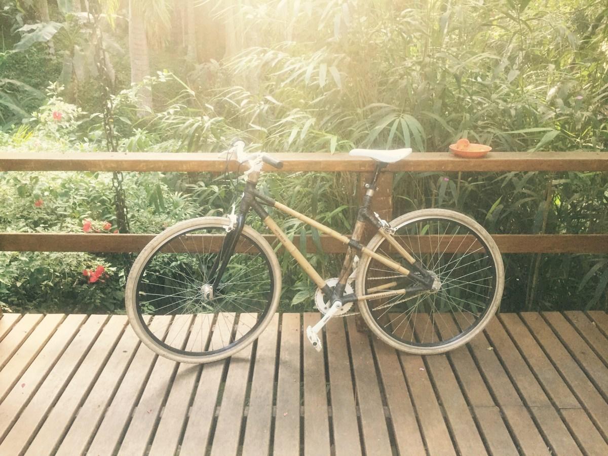 Bamboo bike by Pedro, Na Mata Suits, Ilhabela, Brazil