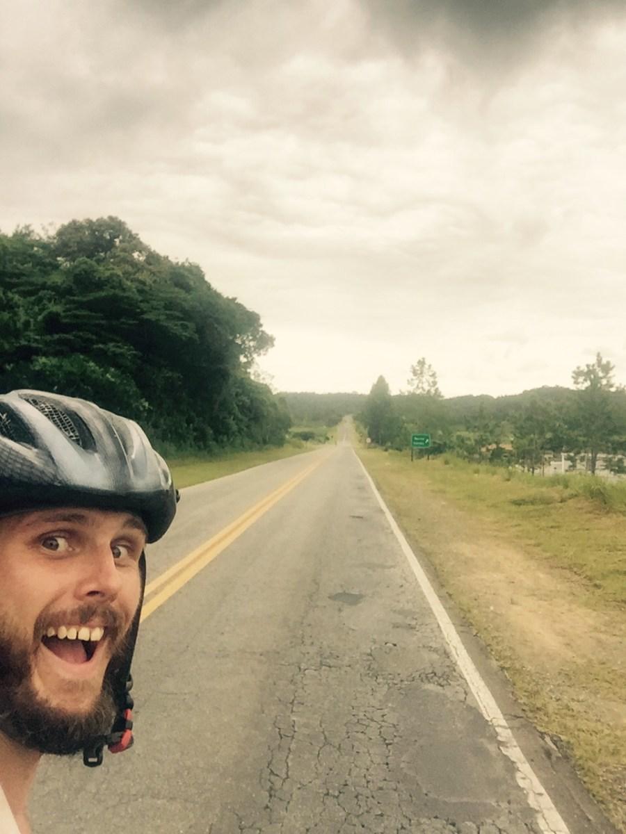 Road towards Iguape, Brazil
