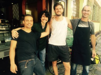 Staff and I of Expresso Curitiba Hostel, Brazil