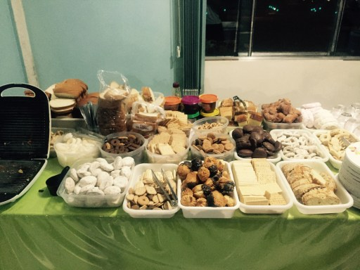Truck stop buffet of sweets, Paraná, Brazil
