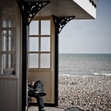 Beach Shelter, Worthing, fine art photographer urban photography herefordshire 1241