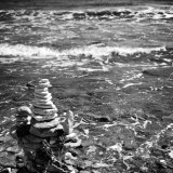 Inukshuk on the Black Sea, Bulgaria, landscapes and nature photographer photography herefordshire 0304
