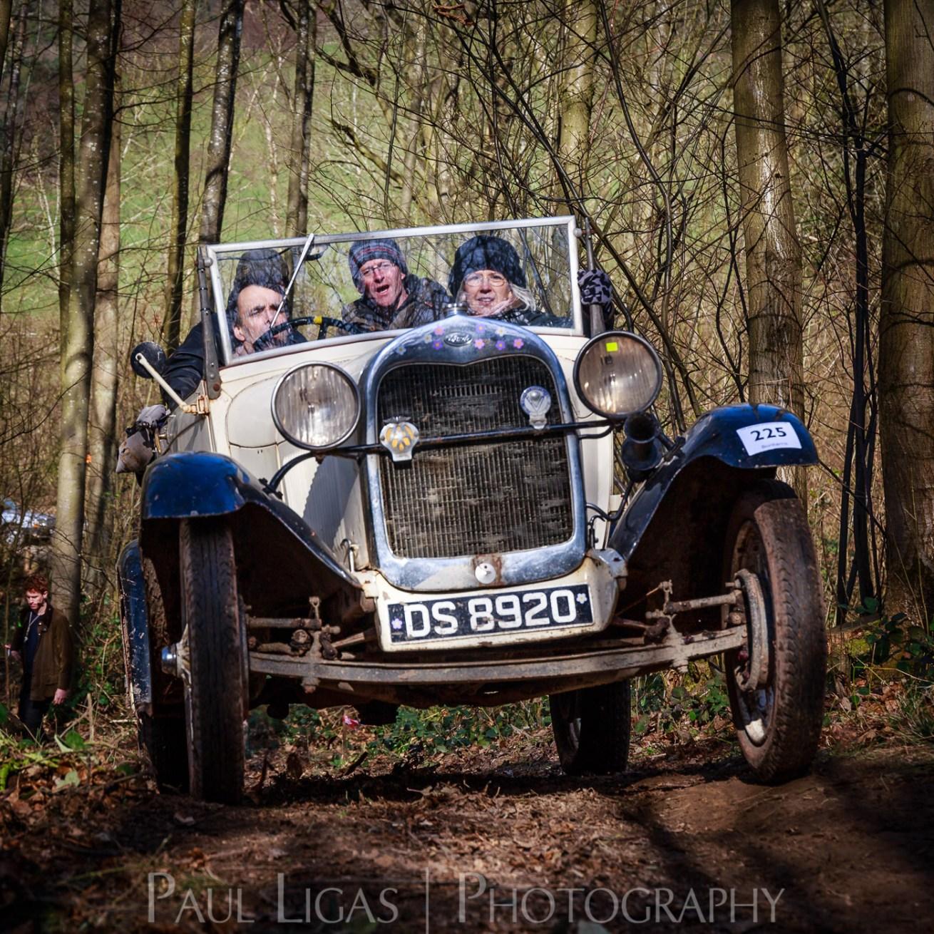 Vintage car hill climbing, Ledbury, Herefordshire event photographer photography 9301