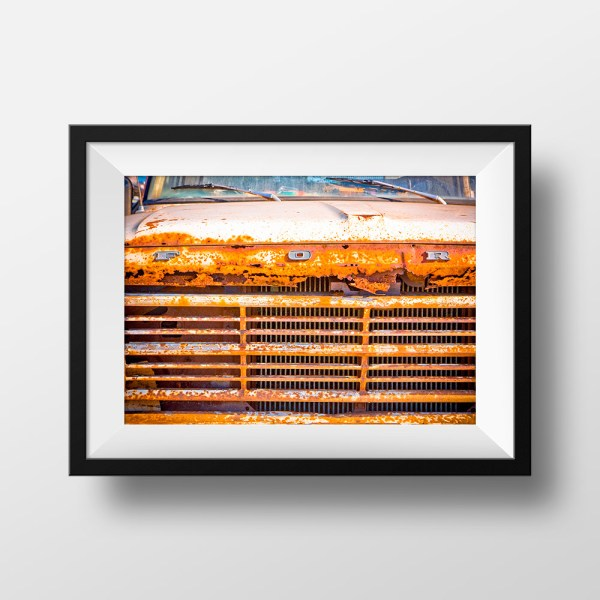 Paul Ligas Photography Print Rusty Ford Pickup mock up