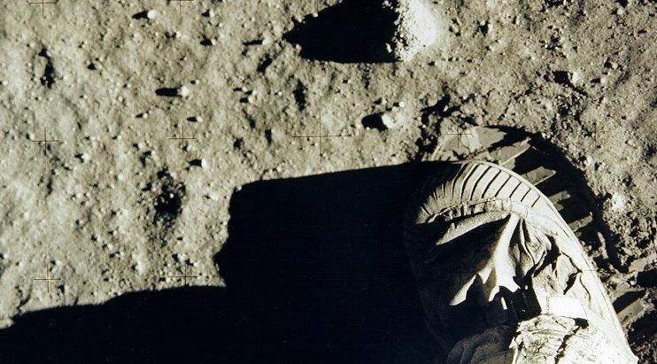 Buzz Aldrin's footprint on the moon