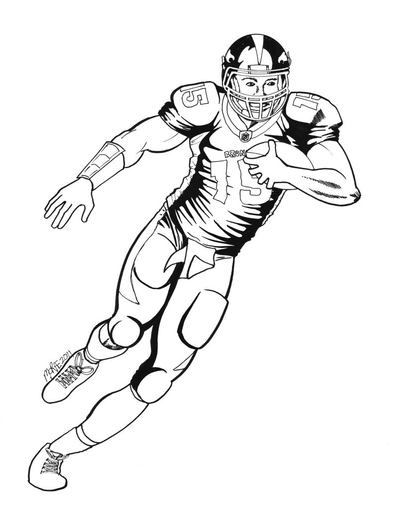 denver broncos players coloring pages coloring pages