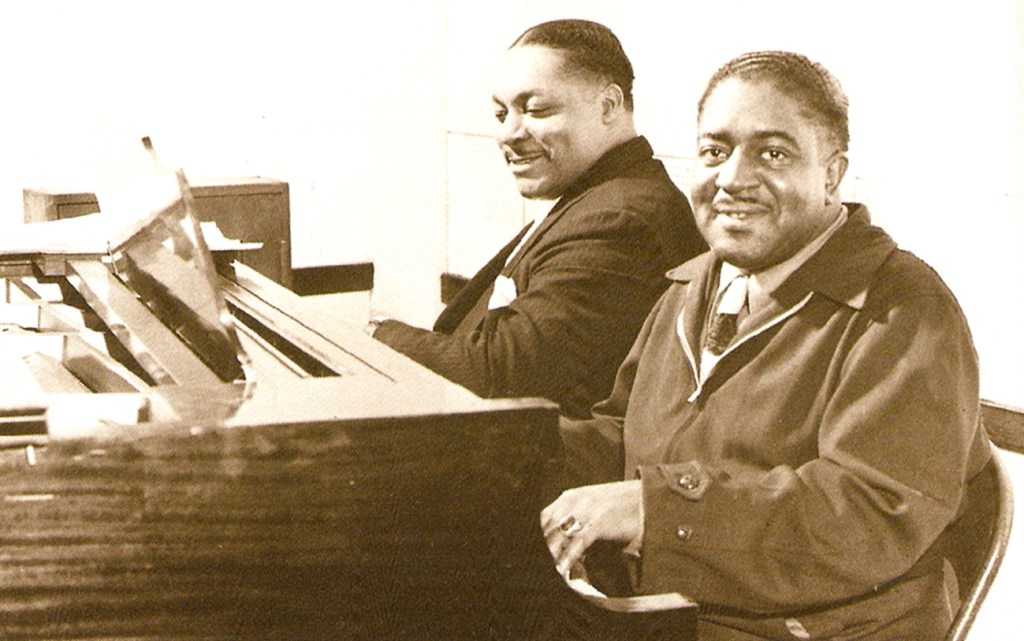 Albert Ammons and Pete Johnson (foreground)