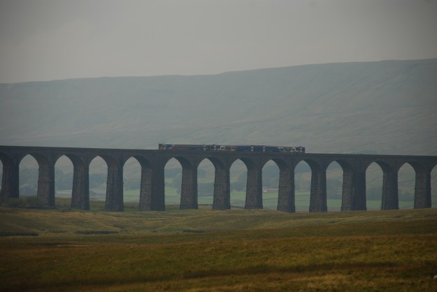 A train crossing the Ribblehead Viaduct on the Carlisle to Settle line. Photograph: Paul Nettleton