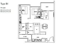 Forestville Floorplan- 2 BR