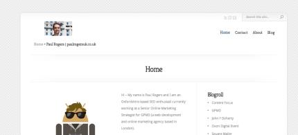 My old website - paulrogersuk.co.uk