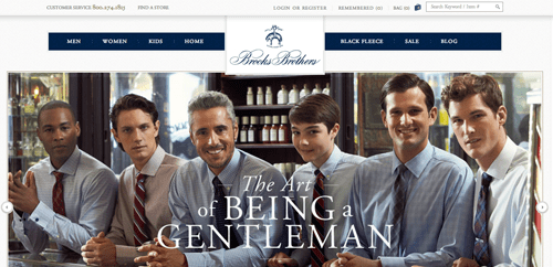Brooks Brothers Ecommerce Website