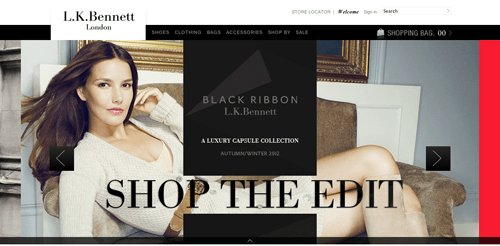 LK Bennett Ecommerce Website