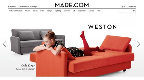 Made.com Ecommerce Website