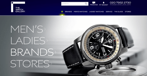 The Watch Gallery Ecommerce Website