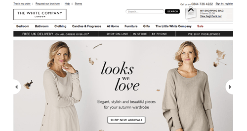 The White Company Ecommerce Website