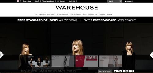 Warehouse Ecommerce Website