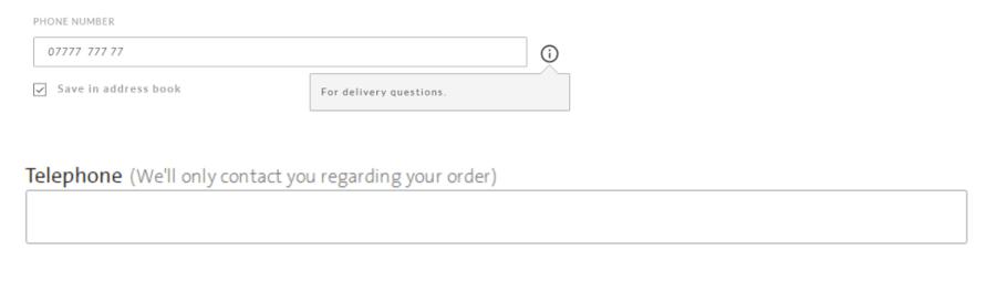 Descriptive messages at checkout