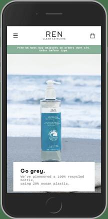 REN Skincare on mobile