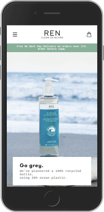 REN Skincare on mobile