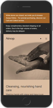 Aesop on mobile